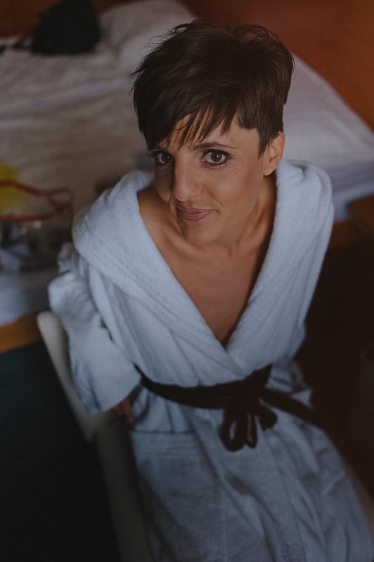 poročna obleka priprave